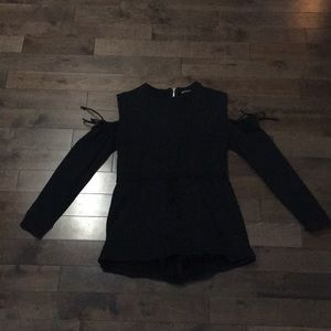 Prettylittlething black romper - size 10(uk)